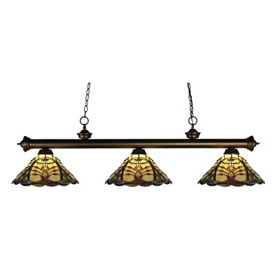 Riviera Olde Bronze 3-Light Billiard Light
