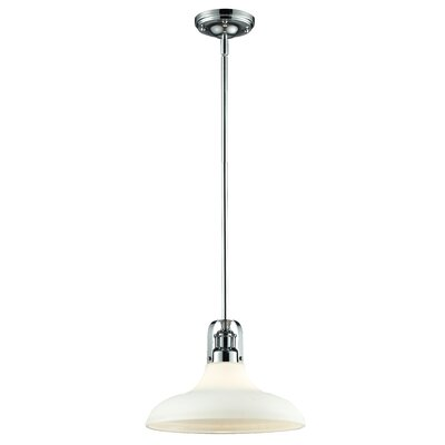 Forge 1-Light Mini Pendant Size: 9.25 H x 13 W x 13 D, Finish: Chrome