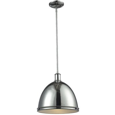 Marquise 1-Light Mini Pendant Finish: Chrome, Size: 61.5 H x 13 W x 13 D