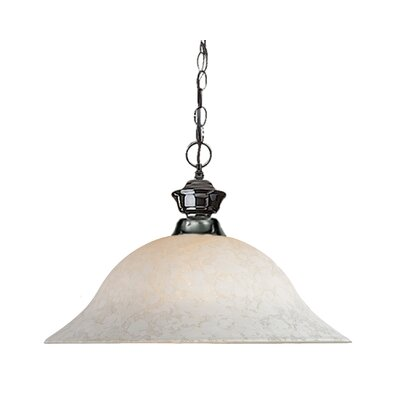 Begonia 1-Light Mini Pendant Frame Finish: Gun Metal