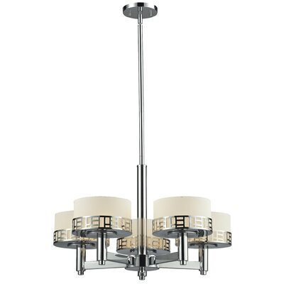 Elea 5-Light Drum Chandelier Finish: Chrome