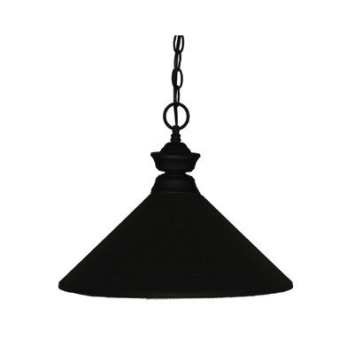 Whitford 1-Light Pendant Finish: Matte Black, Shade Color: Matte Black