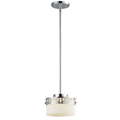 Hummer 1-Light Drum Pendant Finish: Chrome