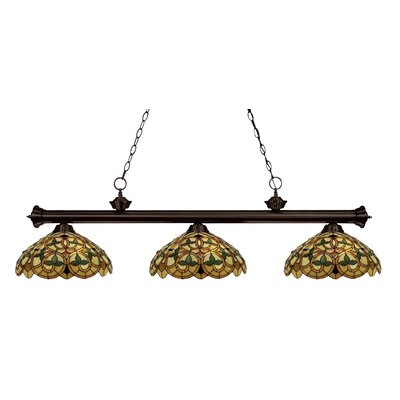 Luedtke 3-Light Pool Table Light Color: Bronze