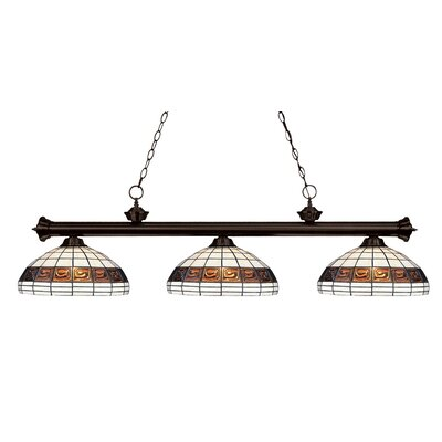 Biarritz 3-Light Billiard Light Finish: Bronze