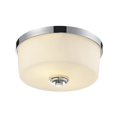 Lamina 2-Light Flush Mount Finish: Chrome