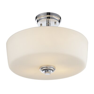 Lamina 3-Light Semi Flush Mount Finish: Chrome