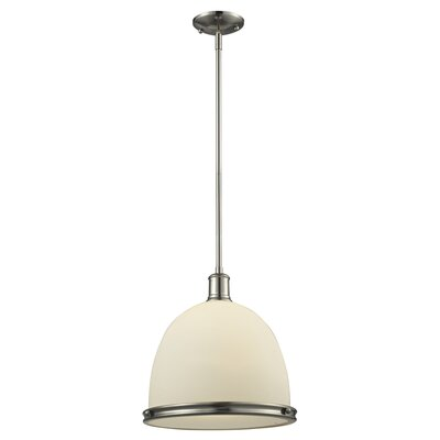 Marquise 1-Light Mini Pendant Finish: Brushed Nickel, Size: 61.5 H x 13 W x 13 D