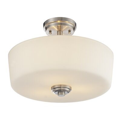Lamina 3-Light Semi Flush Mount Finish: Brushed Nickel