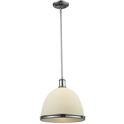 Mason 1-Light Mini Pendant Size: 61.5 H x 13 W x 13 D, Finish: Chrome