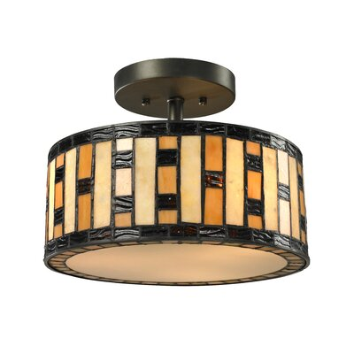 Raya 3-Light Semi Flush Mount