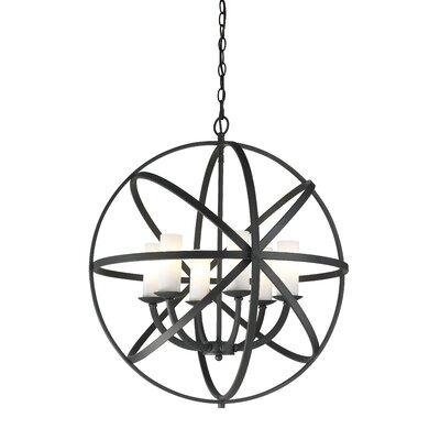 Aranya 6-Light Globe Pendant Finish: Bronze