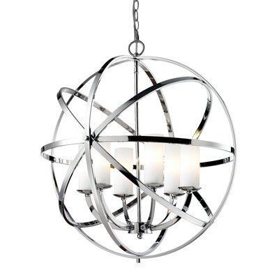 Aranya 6-Light Globe Pendant Finish: Chrome
