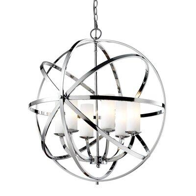 Fridley 6-Light Globe Pendant Finish: Chrome