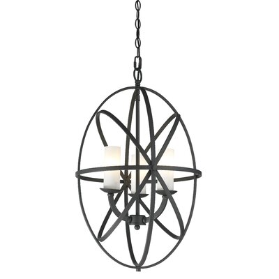 Aranya 3-Light Foyer Pendant Finish: Bronze