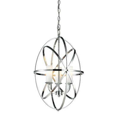 Aranya 3-Light Foyer Pendant Finish: Chrome