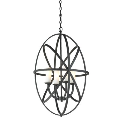 Aranya 4-Light Metal Foyer Pendant Finish: Bronze, Size: 28.74 H x 19.69 W x 19.69 D