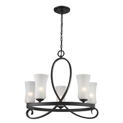 Hummel 5-Light Shaded Chandelier