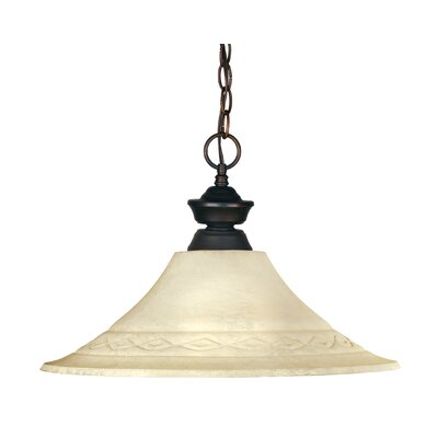 Zephyr 1-Light Metal Billiard Pendant