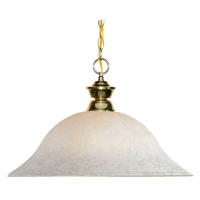 1-Light Mini Pendant Frame Finish: Polished Brass