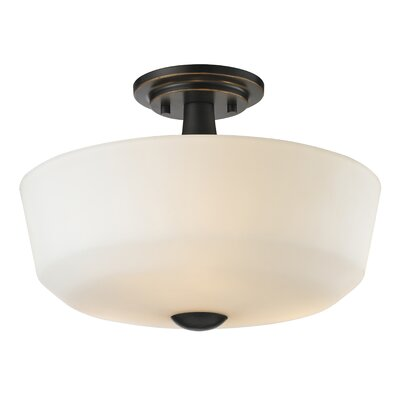 Seeber 3-Light Semi Flush Mount Finish: Coppery Bronze