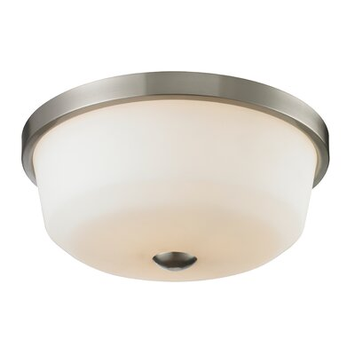 Montego 3-Light Flush Mount Finish: Brushed Nickel