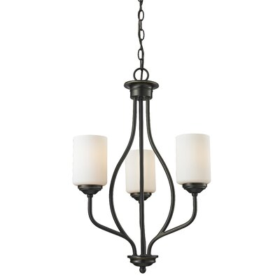 Weatherly 3-Light Shaded Chandelier