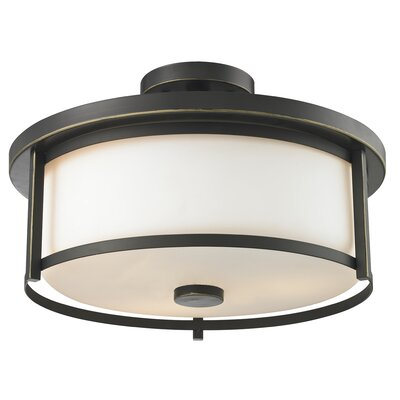 Crumley 3-Light Semi Flush Mount Color: Olde Bronze