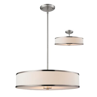 Cameo 3-Light Drum Pendant Size: 53.5 H x 15.63 W