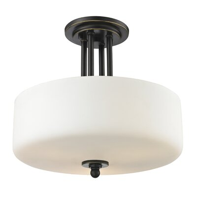 Cardinal 3-Light Semi Flush Mount