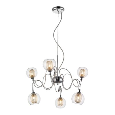 Auge 6-Light Shaded Chandelier