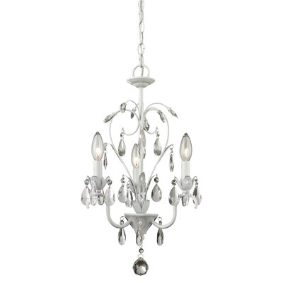 Dutil 3-Light Crystal Chandelier Finish: Matt White
