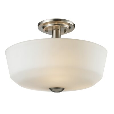 Montego 3-Light Semi Flush Mount Finish: Brushed Nickel