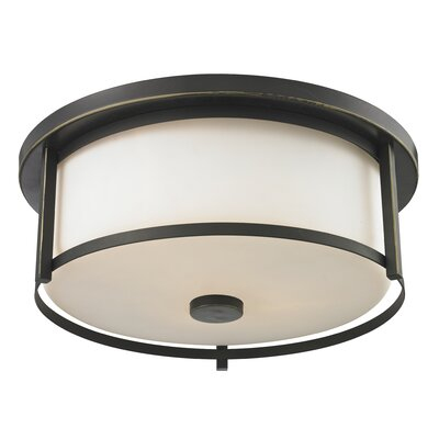 Savannah 3-Light Flush Mount Finish: Olde Bronze