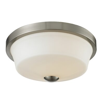 Montego 2-Light Flush Mount Finish: Brushed Nickel