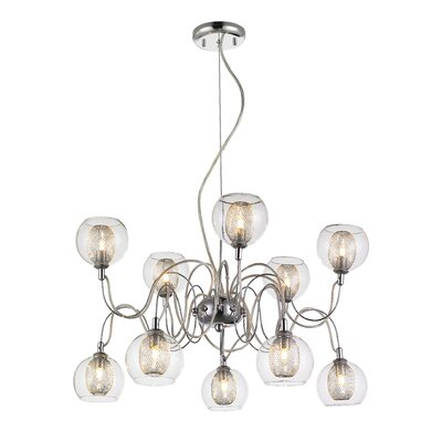 Jewell 10-Light Shaded Chandelier