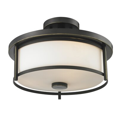 Savannah 2-Light Semi Flush Mount Finish: Olde Bronze
