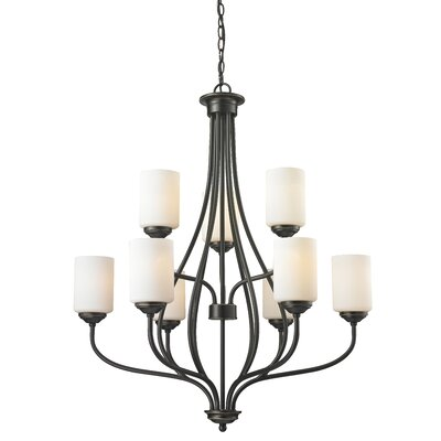 Cardinal 9-Light Shaded Chandelier