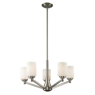 Seeber 5-Light Shaded Chandelier Finish: Brushed Nickel