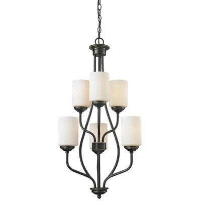 Cardinal 6-Light Shaded Chandelier