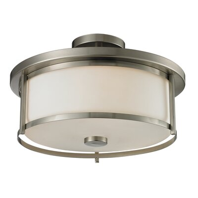Savannah 3-Light Semi Flush Mount Finish: Brushed Nickel