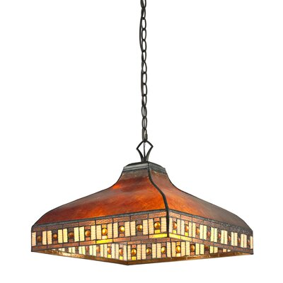 Crimson 3-Light Pendant Shade Color: Amber
