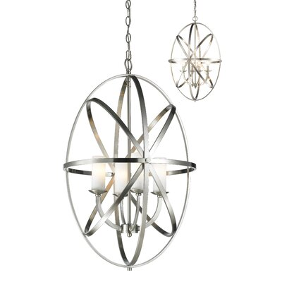 Fridley 4-Light Foyer Pendant Size: 28.74 H x 19.69 W x 19.69 D