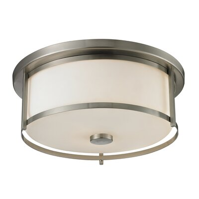 Crumley 3-Light Flush Mount Color: Brushed Nickel