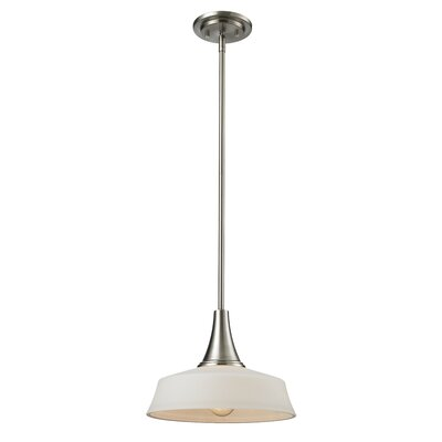 Montego 1-Light Mini Pendant Base Finish: Brushed Nickel