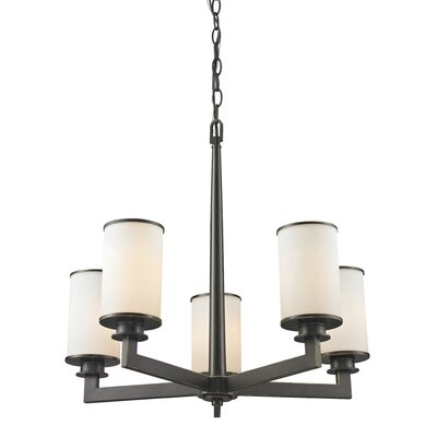 Savannah 5-Light Shaded Chandelier Finish: Olde Bronze