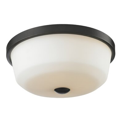 Seeber 3-Light Flush Mount Finish: Coppery Bronze