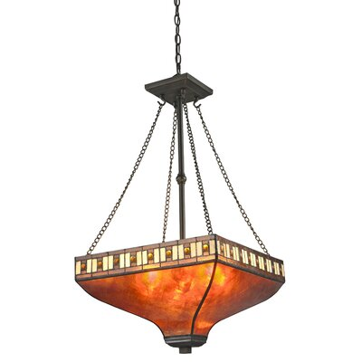 Luellen 3-Light Pendant Shade Color: Amber