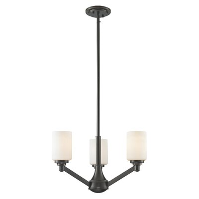 Seeber 3-Light Shaded Chandelier Finish: Coppery Bronze