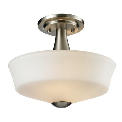 Seeber 2-Light Semi Flush Mount Finish: Brushed Nickel